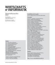 WI 06/03: Jahresinhaltsverzeichnis 2003 - Wirtschaftsinformatik