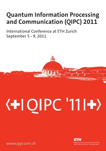 QIPC 2011 Abstract book - QIPC 2011 - ETH Zürich