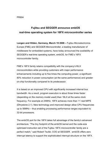 PDF Version - SEGGER Microcontroller