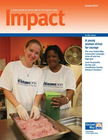 A young woman strives for courage - United Way of Central and ...