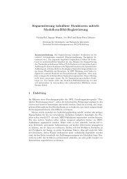 Segmentierung tubulärer Strukturen mittels Modell-zu-Bild ...