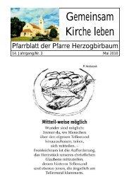 Mai 2010 - Pfarre Herzogbirbaum