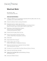 Manfred Mohr - Carroll / Fletcher