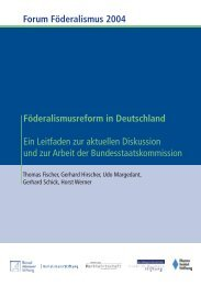 Föderalismusreform in Deutschland - Stiftung Marktwirtschaft