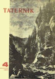 Taternik 4 1974 - Polski Związek Alpinizmu