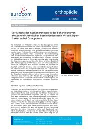 orthopädie aktuell März 2012 - eurocom