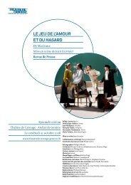 Le jeu de L'amour et du hasard - Théâtre Gérard Philipe
