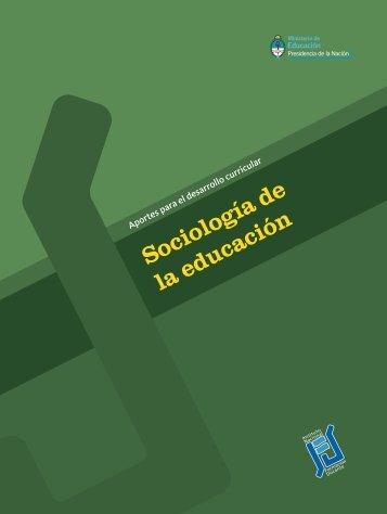 Sociología de la Educación - Repositorio Institucional del Ministerio ...