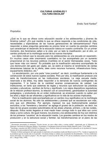 EMILIO TENTI FANFANI CULTURAS JUVENILES.pdf - Webnode