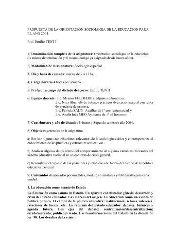 511 tenti - carrera de sociología - UBA - Universidad de Buenos Aires