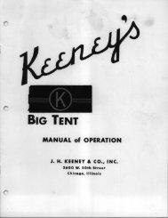 Keeney Big Tent Manual