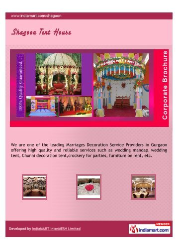 We are one of the leading Marriages Decoration Service Providers ...