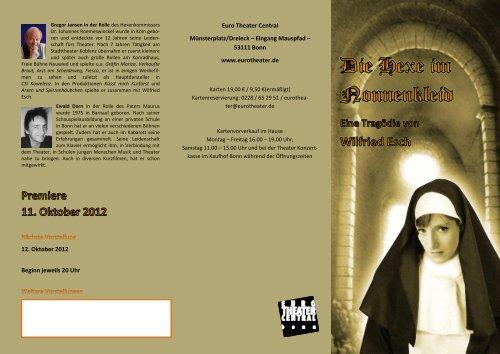 12. Oktober 2012 Beginn jeweils 20 Uhr Euro Theater Central ...
