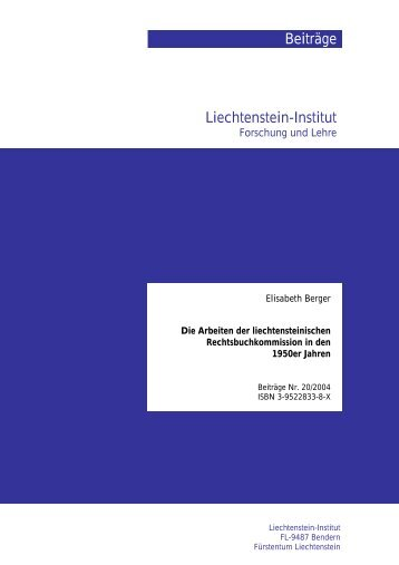 PDF Download - Liechtenstein-Institut, Bendern