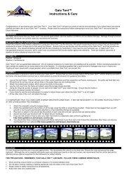 Gala Tent™ Instructions & Care - Gala Tent Ltd