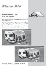 Aufbauanleitung - Mars Alu - dwt-Zelte