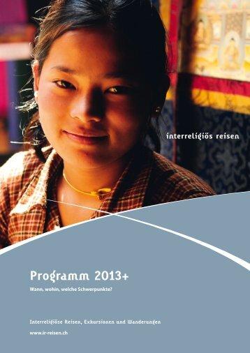 Jahresprogramm 2013 - Iras Cotis