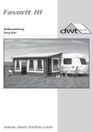 Aufbauanleitung - Favorit III - dwt-Zelte