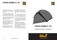 VARIO DOME II / III are lightweight, free- standing REAL DOME tents ...