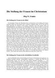 Die Stellung der Frauen im Christentum