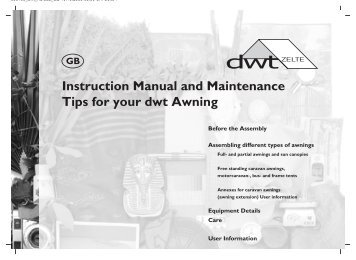 Instruction Manual and Maintenance Tips for your dwt ... - dwt-Zelte