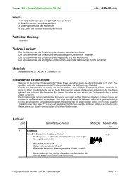 Inhalt: Zeitlicher Umfang: Ziel der Lektion: Material ... - Unti-Online