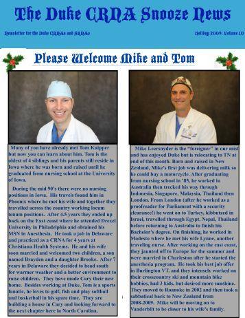 Snooze News Holiday Edition 2009 - Duke University