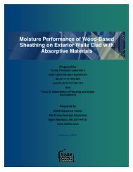 Moisture Performance of Wood-Based Sheathing on Exterior Walls ...