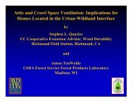 Attic and Crawl Space Ventilation - Forest Products Society