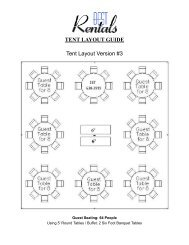 Tent Layout Version #3 TENT LAYOUT GUIDE - Best Rentals
