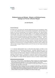 Weltanschauung und Religion - fowid - Forschungsgruppe ...