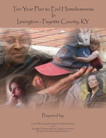 Ten Year Plan to End Homelessness In Lexington - Kentucky ...