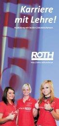 Karriere mit Lehre: Lehrlingsausbildung bei ROTH - ROTH Online