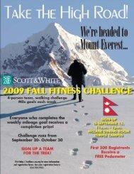Trek up Mount Everest - Scott & White