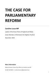THE CASE FOR PARLIAMENTARY REFORM. NOV 2010-1 - Lucas C. 2010