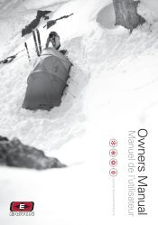 O w ners M anual - Easton Mountain Products