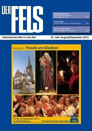 August September - Der Fels