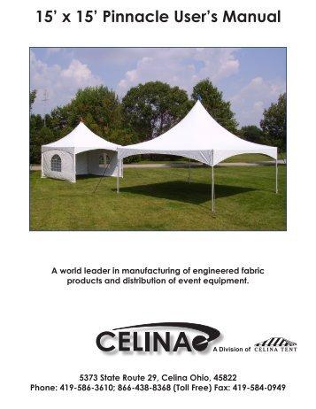 15u0027 x 15u0027 Pinnacle Useru0027s Manual - Celina Tent  sc 1 st  Yumpu & 20u0027 x 20u0027 Pinnacle Useru0027s Manual - Celina Tent
