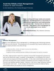 Avoid the Pitfalls of SLA Management - Tenzing Managed IT Services