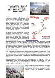 Tenzing-Hillary Everest Marathon, Samstag 29 - Alpenverein ...