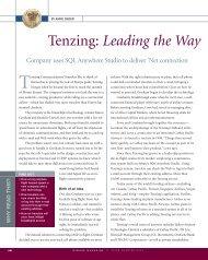 Tenzing: Leading the Way - Sybase