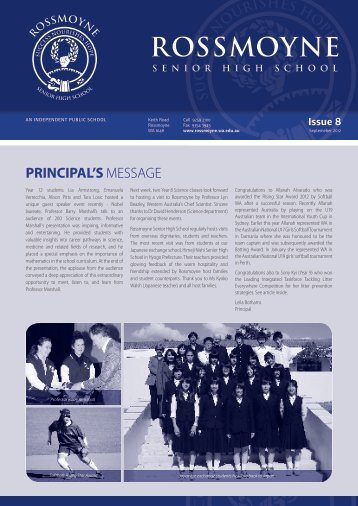2012 Issue 8 - Rossmoyne Senior High School