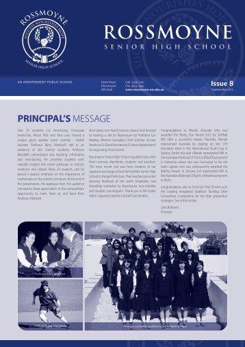 2012 Issue 8 - Rossmoyne Senior High School