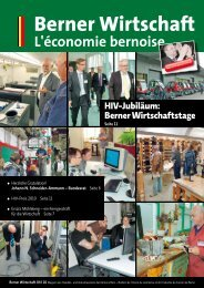 Magazin Berner Wirtschaft 04/2010 - Handels- und Industrieverein ...