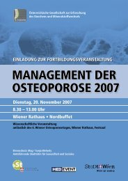 MANAGEMENT DER OSTEOPOROSE 2007