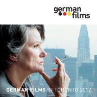 GERMAN FILMS IN TORONTO 2012 - German Cinema