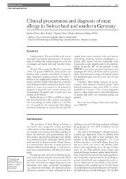 Clinical presentation and diagnosis of meat allergy - Swiss Medical ...