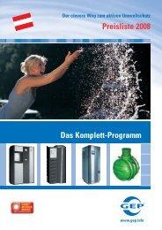 Preisliste 2008 Das Komplett-Programm - DEHOUST GmbH