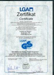 Zertifikate (PDF) - Chairholder GmbH & Co. KG