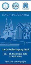 Programm - CACP Herbsttagung 2012